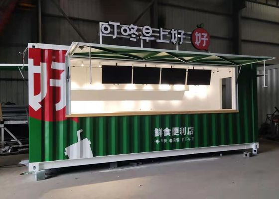 20GP LCD Display Breakfast Shop Prefab Shipping Container House